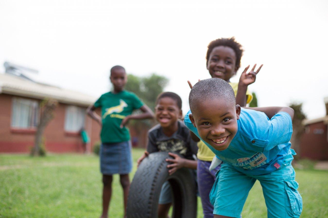 Kinderen in ons kinderdorp in Mamelodi, Zuid-Afrika
